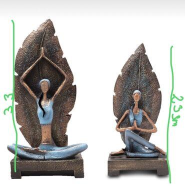 yoga mat baku - Azərbaycan: Yoga xanim heykeli. Ev ucun şık dekor. Evin havasini deyisen şık