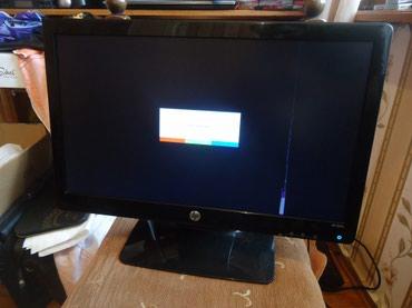 Bakı şəhərində Monitor hp 20-lik geniş ekrandır və bütün şunurları var.Bu cür
