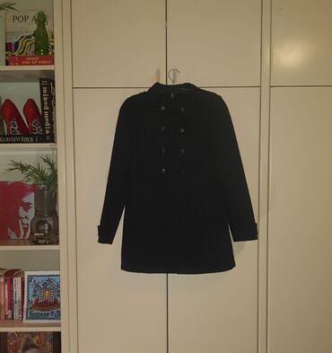 HM crni mantil - crni kaput/mantil za prelazni period, iz H&M