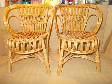 Nameštaj - Lazarevac: Dečije stolice. Prelepe pletene stolice od pruća za decu. Savršeno