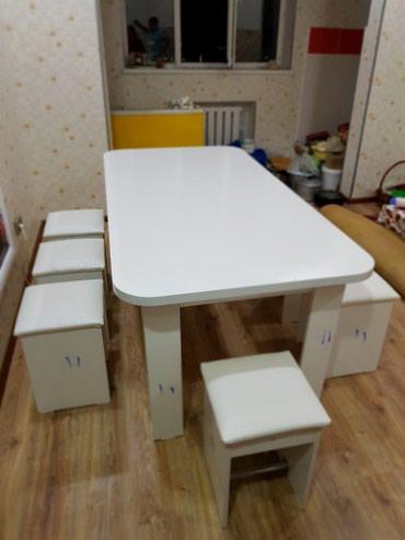Стильные кухонные столы с табуретками в Бишкек