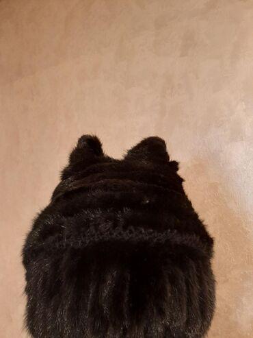 Беретка вязанная - Кыргызстан: Срочно!Продаю шапку норковую.ПроизводствоРоссия. Вязанная шапка