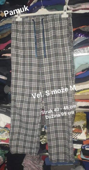 Pantalone pamuk polyester - Srbija: Letnje pantalone vel. S može M  Pamuk