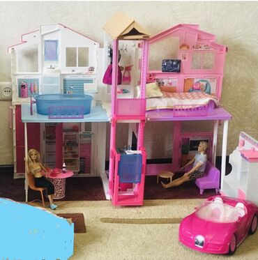 Домик кж - Кыргызстан: Продаю шикарный домик для куклы барби и плюс в подарок мебель и