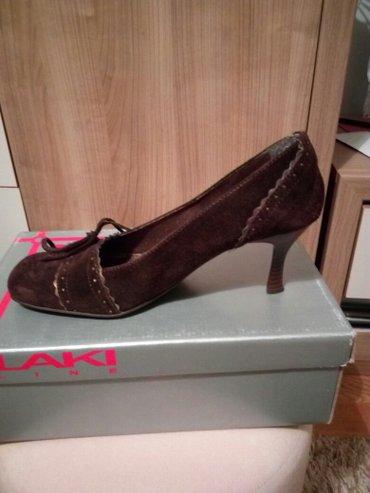 Ženska obuća | Cacak: Cipele,antilop,jednom obuvene. Broj 38 (veći kalup ). Tamno braon