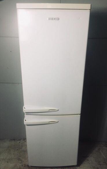 Б/у Двухкамерный   Белый холодильник Beko