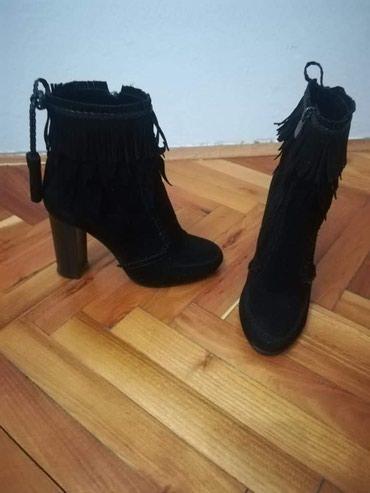 Nosene cizme, bez ostecenja, materijal velur, broj 37 - Nova Pazova