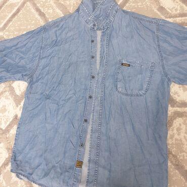 Рубашка летняя мужская - Кыргызстан: Джинсовая лёгкая мужская рубашка размер L(большемерит)