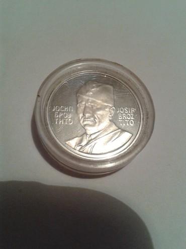 Monete | Srbija: Josip Broz Tito kovanica srebrnjak Jajce 1973 u kapsuli