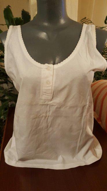 Majica  bela majica  100%pamuk vel l/xl novo doneta iz francuske - Pozarevac