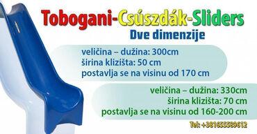 Poliester - Srbija: Prodajem TOBOGANE u dve dimenzije u raznim bojama!!! Tobogani su od