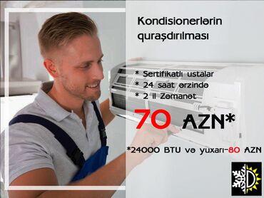 Texnikanın təmiri Azərbaycanda: Kondisionerlərin Quraşdırılması:Kondisioner