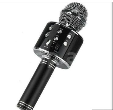 Bakı şəhərində Ses yazma ve ince qalin deyisme ozeloikli blutuz karaoke mikrafon