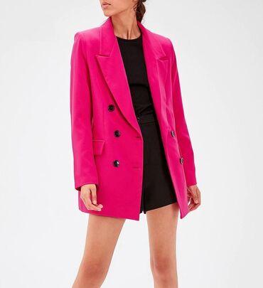 Predivan, potpuno novi sako u ciklama roze boji, velicina 38. U