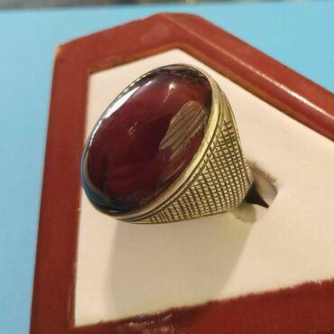Qaşı Xorasan əqiqi olan gümüş üzük satılır. qiyməti: 100 manat