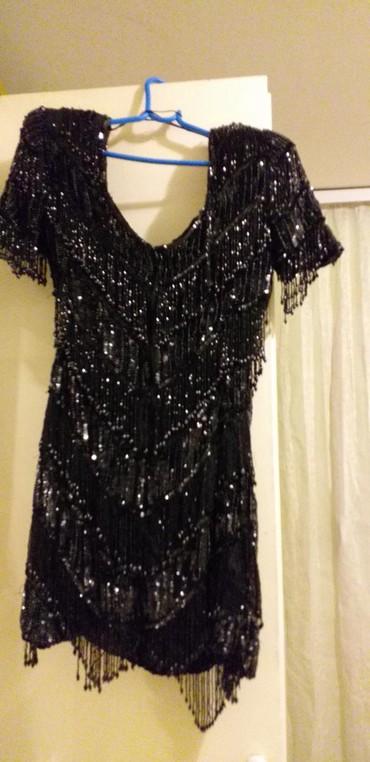Haljine | Borca: SVEČANA firmirana haljina sa sljokicama sa biserima kamencicima iz