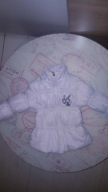 Dečije jakne i kaputi | Paracin: Jakna za devojcice bela malo nosena pufnasta kao nova,velicina 6