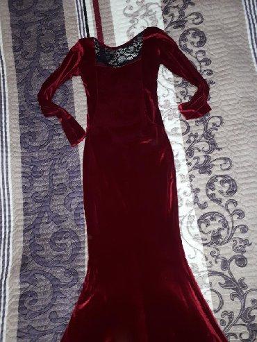 вечернее платье русалочка в Кыргызстан: Вечернее платье-русалочка в пол р-р S 500сом
