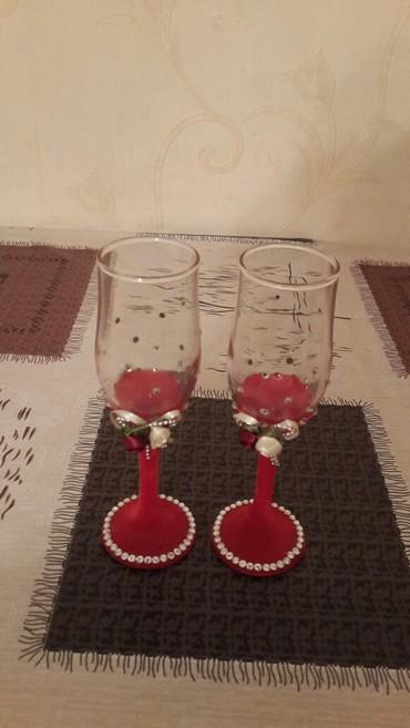 Bel baglari gelin ucun - Azərbaycan: Gelin ve bey stolu ucun bokal