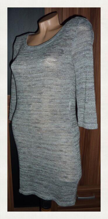 Uska haljina - Srbija: ONLY SIVA USKA KONCANA HALJINA VEL 36ramena 40cmpazuh 44cmdole