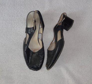 Продаю кожаные черные босоножки 41 в Бишкек