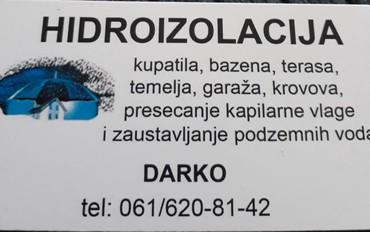 Poslasticar-dekorater - Srbija: Hidroizolacija svih vrsta objekata po vrlo pristupacnim cenama,ako