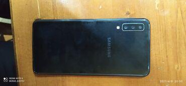 Samsung Galaxy A7 2018 | 64 GB | göy | İşlənmiş | Çatlar, cızıqlar, Sensor, Barmaq izi