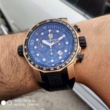 klassik kişi cemperləri - Azərbaycan: Kişi klassik qol saati Porsche Original Qablaşdırma Suya Dayanıqlı