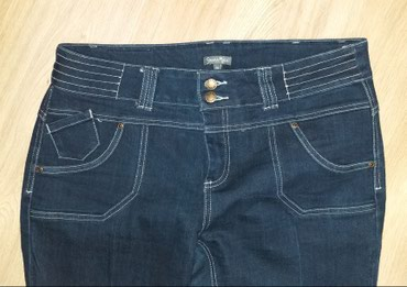 Zenski konfekcijski - Srbija: Farmerice vel Xl (46 konfekcijski) pune elastina par puta obučene kao