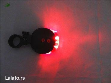 Zadnje svetlo za biciklo sa Laserom . Baterije se dobijaju u kompletu - Beograd - slika 3