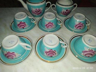 Сервиз чайный новый СССР, фарфор, 14 предметов - все на фото, в