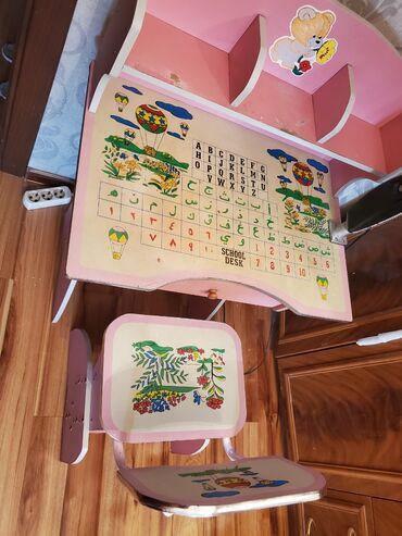 Б/У! Детский школьный стол и стул.Качество отличное крепкая мебель