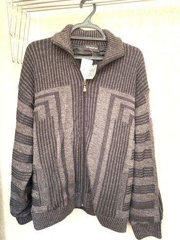 джемпер для мужчин в Кыргызстан: Новый джемпер-куртка на молнии для мужчин размер 52-54, на подкладе. В