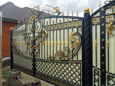 Ворота.........распашные и откатные+автоматикаКованные ворота. в Бишкек