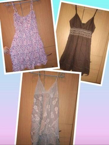 Letnje haljine po 450. Rasprodaja!Roze-bela haljina sa cveticima