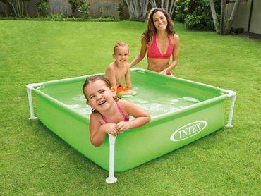 Навес для бассейна - Кыргызстан: Бассейн Детский каркасный бассейн «Mini Frame Pool» Intex 122x122x30