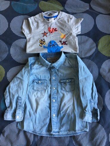 H&M джинсовая рубашка и бодик. в Meyrin