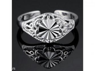 Tajlandsko srebro 925, podesiv prsten - Kula