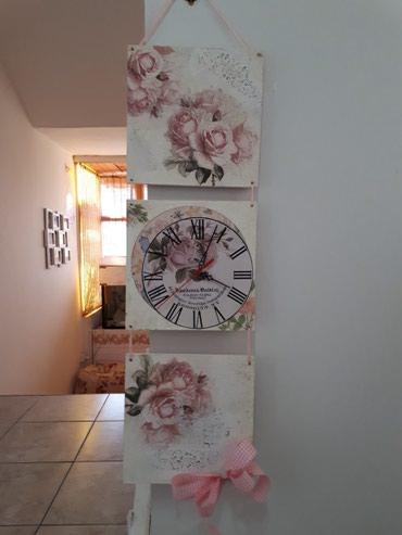 Drveni zidni sat dimenzija 22x68 cm., rucni rad. Pogledajte i moje - Vrsac