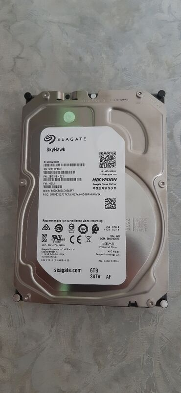 внешний жесткий диск 320 gb в Кыргызстан: HDD 6TB Для Видеонаблюдения  Новый ! Гарантия!