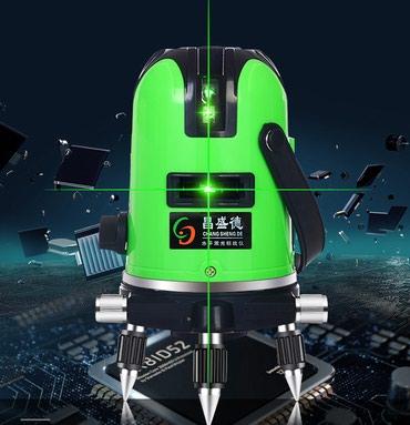 Уровень лазерный ,зеленый луч, 2 линии. 2 аккумулятора. в Бишкек