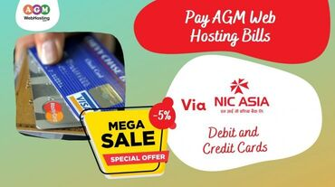 Pay AGM Web Hosting Bills Via NIC(Debit and Credit Cards)Are you