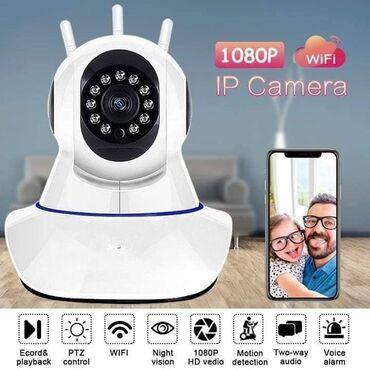 Web kamere - Srbija: Video IP WiFi rotirajuća kamera nadzor preko telefona / tableta / pc -