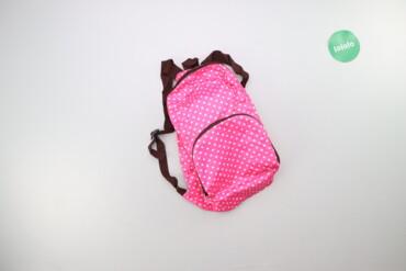 Дитячий рюкзак у горох    Висота: 41 см Ширина: 26 см  Стан гарний