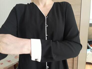 Ženska odeća | Novi Pazar: Crna nova kosulja, vel.38. Odgovara M. Lagana, nije strukirana
