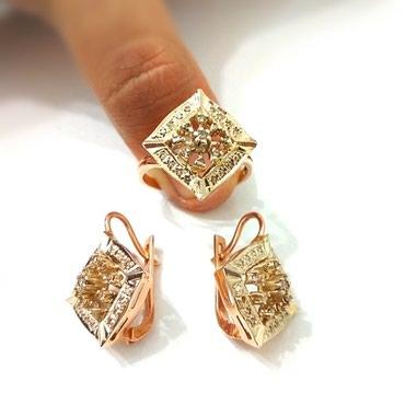 Комплект с бриллиантами красное в Бишкек