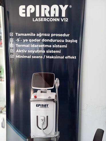 Tibbi məhsullar - Azərbaycan: DIOD LAZER v12 epiray cihazi 20milyon atisi var.yenidir.ustunde