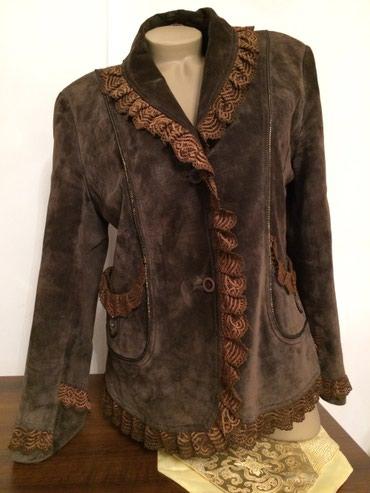 замшевые куртки в Кыргызстан: Замшевая куртка цвет хаки размер 48-50