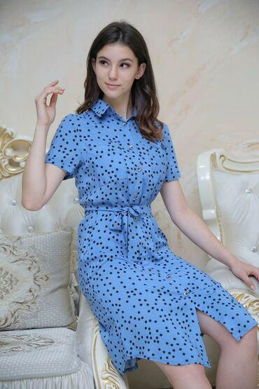 Платья рубашка   размер:48  ткань штапель   Цена 450