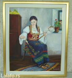 Originalno autorsko deljo radjeno u tehnici  ulje na platnu 60x50 cm - Smederevo